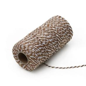 Two-color Cotton Thread Handmade DIY Drawstring Gift Box Packing Rope 2mm Thick (100m / Roll)(12)