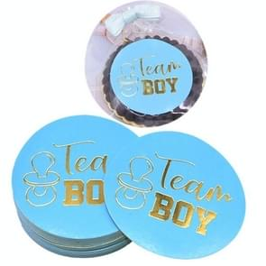 20 PCS Team Boy Team Girl Stickers Boy or Girl Vote Sticker for Gender Reveal Party(Blue)