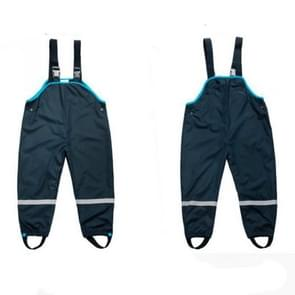 Double Rainproof Waterproof Thick Beach Pants Green Poncho Raincoat Children Bib, Size:L(Black)
