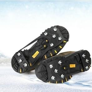 8 Teeth Ice Claw Outdoor Non-slip Shoes Covers for Ice Snow Ground, Size:L(41-45 Yards)(Black)