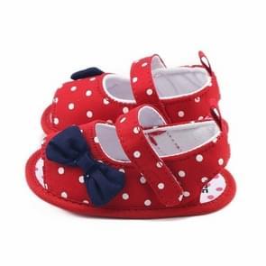 Pasgeboren Baby Boys Girls Soft Sole Anti-slip Sneakers Schoenen  Maat:12 (Rood)