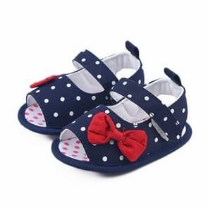Pasgeboren Baby Boys Girls Soft Sole Anti-slip Sneakers Schoenen  Maat:12 (Donkerblauw)