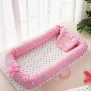 Baby wieg katoen kussen baby reizen bed opvouwbare peuter bed wieg (konijn)