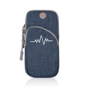 Universal Sport Armband Case voor mobiele telefoon sport looptas buiten zakje voor iPhone (Blauw)