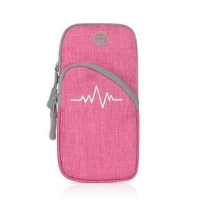 Universal Sport Armband Case Voor mobiele telefoon Sport Running Bag Outdoor Pouch voor iPhone (Rose Red)