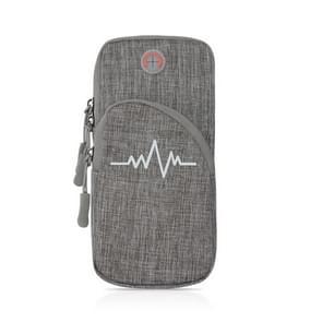 Universal Sport Armband Case voor mobiele telefoon Sport Running Bag Buitenzak voor iPhone (Grijs)