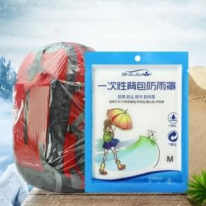 5 STKS wegwerp outdoor rugzak cover fiets tas regen cover grote tas waterdicht regen bestendig stofhoes, maat: M (20-30L)