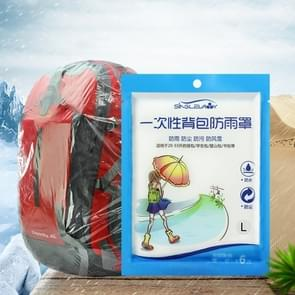 5 STKS wegwerp outdoor rugzak cover fiets tas regen cover grote tas waterdicht regen bestendig stofomslag, maat: L (30-40L)