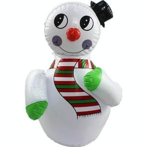 Toy Inflatable Snowman Tumbler Parent-child Game Stage Prop Decoration(White)