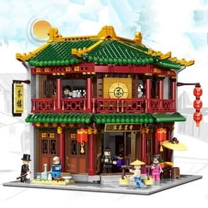 Chinatown theehuis kleine deeltje geassembleerd Building Block model Toy 3033 PC'S (01021)