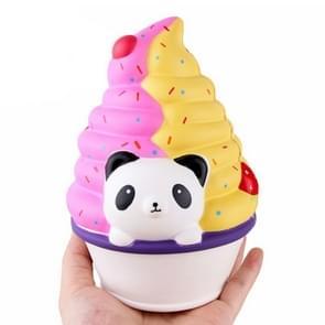 Slow rebound simulatie Panda Ice Cream decompressie vent squeeze Toy kinderen geschenken (roze geel)