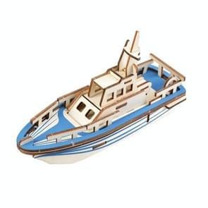 3 PCS 3D Model Boot houten diy puzzel speelgoed (reddingsboot)