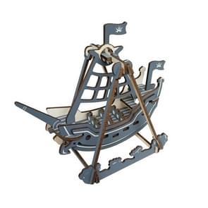 3 PCS 3D Model Boot houten diy puzzel speelgoed (Corsair)
