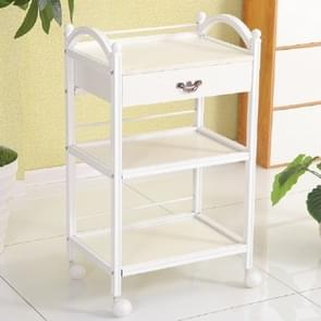 Beauty Cart Hair Salon Instrument Storage Cart Trolley Beauty Tools Massage Beauty Salon Furniture Trolley(With Drawer - White)
