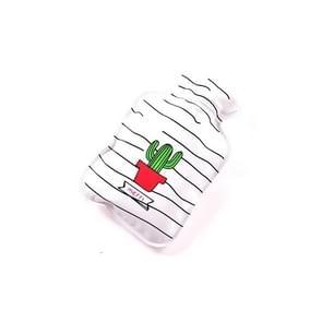 Cartoon mini waterinjectie warm water tas draagbare hand warmer, kleur: witte cactus