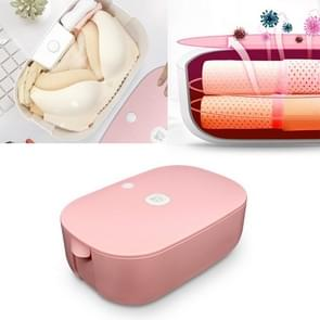 GYH-01 100W Small Portable Home Travel Dryer Box Underwear Towel Bottle Mouth Storage Disinfection Box, CN Plug 220V(Pearl Pink)