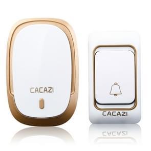 CACAZI K01 pager draadloze slimme muziek waterdichte deurbel, willekeurige kleur levering, VS/EU/UK plug