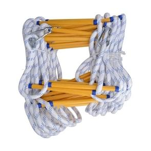 15m Resin Anti-skid Firefighting Rope Ladder Aerial Work Soft Ladder Rescue Ladder