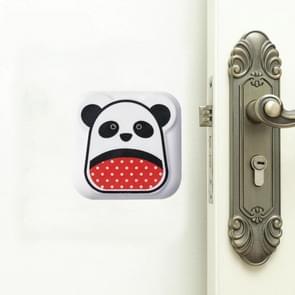 10 PC'S Mute crash pad cartoon verdikte muur deur shock pad (witte Panda)