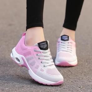 Dames schoenen ademende Mesh Soft Sole Sneakers  Size:35(Roze)