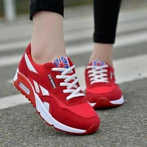 Vrouwen Mesh Sneakers met luchtkussen  maat:40 (rood)