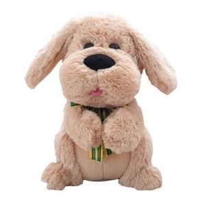 Elektrische hond gevulde dieren muziek speelgoed juichen en oren Flaping interactieve pop