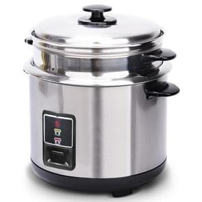 Stainless Steel Electric Rice Cooker Double Bottom Food-grade Liner Household Vintage Rice Cooker  Capacity:6L
