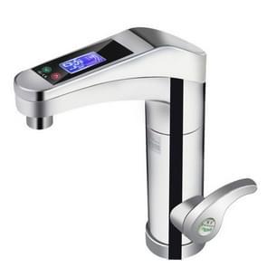 Intelligente Instant digitale warm water kraan warm en koud waterverwarmer, EU stekker (zilvergrijs)