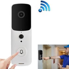 Intelligente WiFi 2.4G deurbel Visual Remote Home Monitoring Doorbell Video Voice Intercom(Wit)