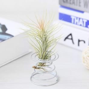 2 stks Air aluminium draad ananas wroeten houder voorjaar basis  grootte: 5.2 Ã 5.35 Ã 6cm (zilver)