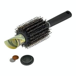Multifunctionele verborgen draagbare opberg kam voor roller Comb opbergdoos (zwart)