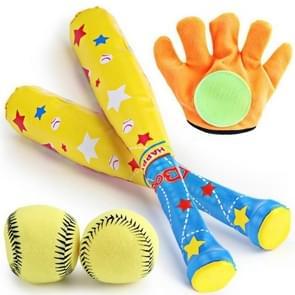 Children EVA Foam Soft Safety Sports Baseball Toy Set(Yellow)
