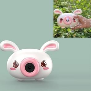 Bubble Blowing Machine Kinderen Automatische Cartoon Bubble Maker Camera Speelgoed (Bunny)