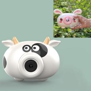 Bubble Blowing Machine Kinderen Automatische Cartoon Bubble Maker Camera Speelgoed (Koe)