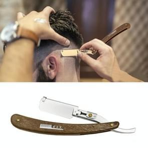 Handleiding scheermes vouwen houten handvat mannen scheermes, kleur: zilver