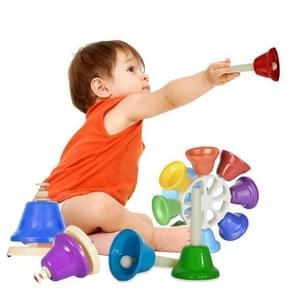 Orff instrument acht-Tone Bell percussie muzikale speelgoed voor kinderen  grootte: 14.7 x 14 7 x 5.8 cm (kleurrijke)