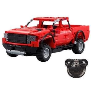 Elektrische afstandsbediening Pickup Truck Sportwagen Model Kinderen Puzzel Geassembleerdbouwsteen Speelgoed (Rood)
