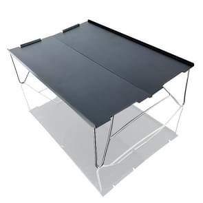 Outdoor Draagbare Mini Aluminium Tafel Ultralight Vouwen Picknick tafel Camping Zelfrijdende Vissen Barbecue Kleine Salontafel (Zwart)