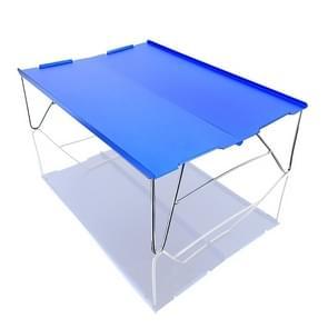 Outdoor Draagbare Mini Aluminium Tafel Ultralight Vouwen Picknick tafel Camping Zelfrijdende Vissen Barbecue Kleine Salontafel (Blauw)