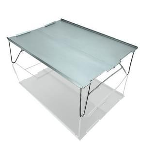 Outdoor Draagbare Mini Aluminium Tafel Ultralight Vouwen Picknick tafel Camping Zelfrijdende Vissen Barbecue Kleine salontafel (Grijs)