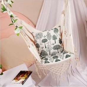 Omzoomde Hangmat Slaapzaal Indoor Opknoping Hangmat Tuin Courtyard Swing Chair met een kussen