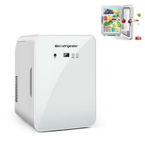 JC-12L 12L Cosmetische koelglas deur koelkast auto thuis dual-use mini koelkast  CN Plug  Style: Digital Display (Wit)