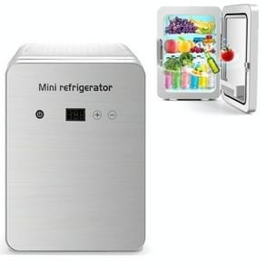 JC-12L 12L Cosmetische koelglas deur koelkast auto thuis dual-use mini koelkast  CN Plug  Style: Digital Display (Zilver)