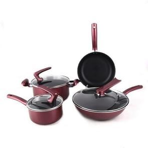 7 In 1 huishouden Nonstick Cookware Wok Soep Pot Pan Set