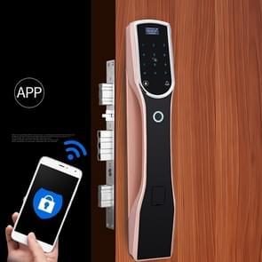 RX0836 Volautomatisch vingerafdrukslot Smart Lock Home Indoor Villa Elektronische Afstandsbediening codeslot (rood brons)