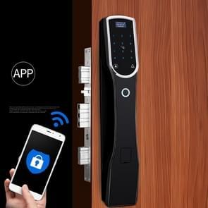 RX0836 Volautomatisch vingerafdrukslot Smart Lock Home Indoor Villa Elektronische Remote Code Lock(Zwart)