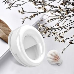 RK49 Mobiele Telefoon LED Externe Fill Light Live Beauty Selfie Lamp (Wit)