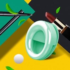 RK49 mobiele telefoon LED externe fill light live beauty selfie lamp (groen)