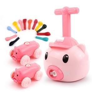 Piggy Air Powered Balloon Car Friction Car Kinderen Intellectuele Speelgoed (Roze)