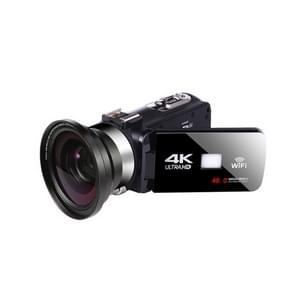 4K HD Night Vision 48MP Home WiFi Live Camcorder DV Digitale Camera  Stijl: Groothoeklens